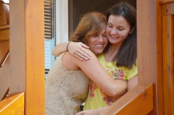 mom and ligia